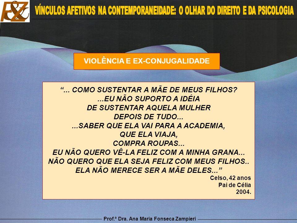 Prof.ª Dra. Ana Maria Fonseca Zampieri VIOLÊNCIA E EX-CONJUGALIDADE... COMO SUSTENTAR A MÃE DE MEUS FILHOS?...EU NÃO SUPORTO A IDÉIA DE SUSTENTAR AQUE