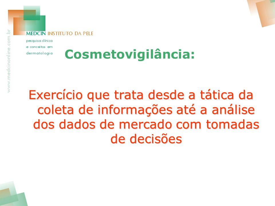 Cosmetovigilância: Exercício que trata desde a tática da coleta de informações até a análise dos dados de mercado com tomadas de decisões