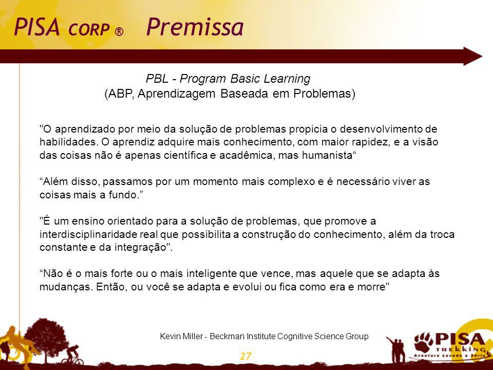 27 PISA CORP ® Premissa Kevin Miller - Beckman Institute Cognitive Science Group