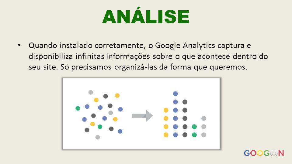 ANÁLISE Quando instalado corretamente, o Google Analytics captura e disponibiliza infinitas informações sobre o que acontece dentro do seu site.