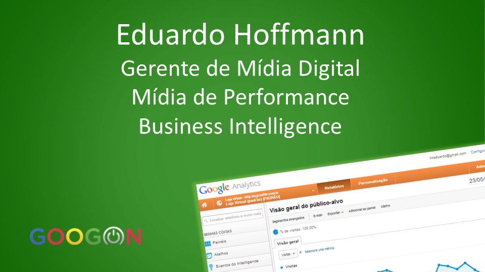 Eduardo Hoffmann Gerente de Mídia Digital Mídia de Performance Business Intelligence