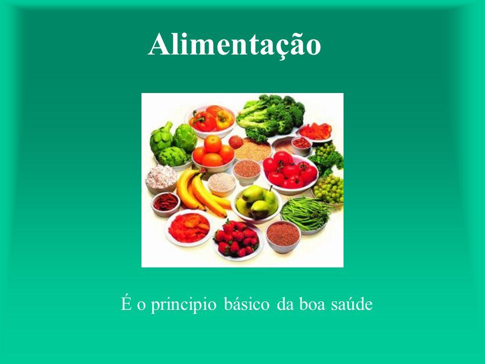 Alimentação É o principio básico da boa saúde