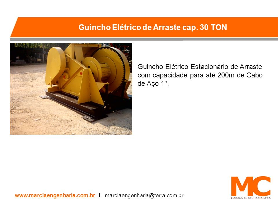 Guincho Elétrico Estacionário de Arraste com capacidade para até 200m de Cabo de Aço 1 .
