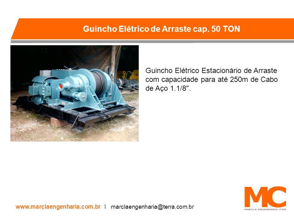 Guincho Elétrico Estacionário de Arraste com capacidade para até 250m de Cabo de Aço 1.1/8