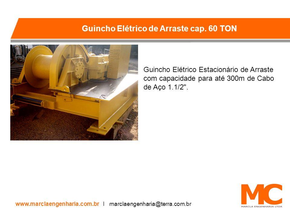 Guincho Elétrico Estacionário de Arraste com capacidade para até 300m de Cabo de Aço 1.1/2