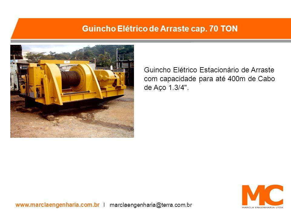 Guincho Elétrico Estacionário de Arraste com capacidade para até 400m de Cabo de Aço 1.3/4