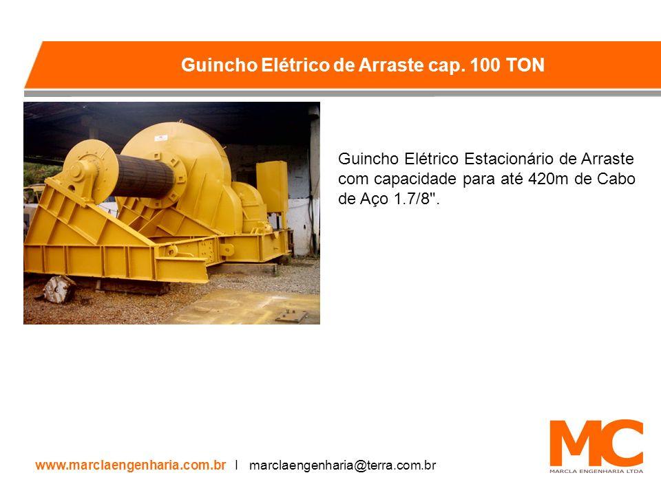 Guincho Elétrico Estacionário de Arraste com capacidade para até 420m de Cabo de Aço 1.7/8