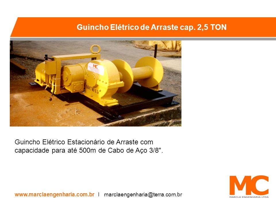 Guincho Elétrico Estacionário de Arraste com capacidade para até 500m de Cabo de Aço 3/8