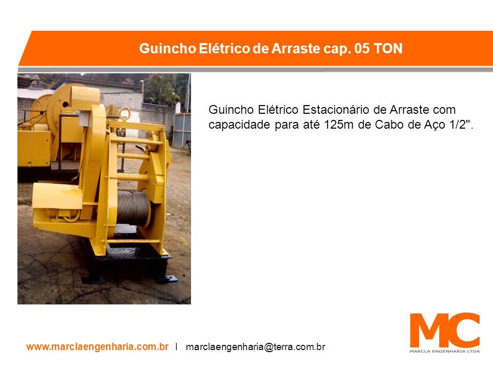 Guincho Elétrico Estacionário de Arraste com capacidade para até 125m de Cabo de Aço 1/2 .