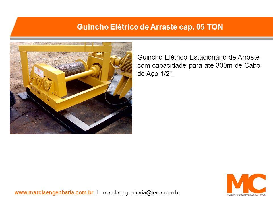 Guincho Elétrico Estacionário de Arraste com capacidade para até 300m de Cabo de Aço 1/2