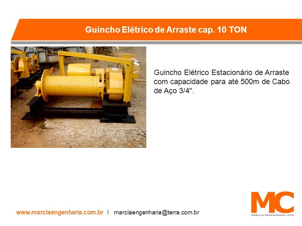 Guincho Elétrico Estacionário de Arraste com capacidade para até 500m de Cabo de Aço 3/4