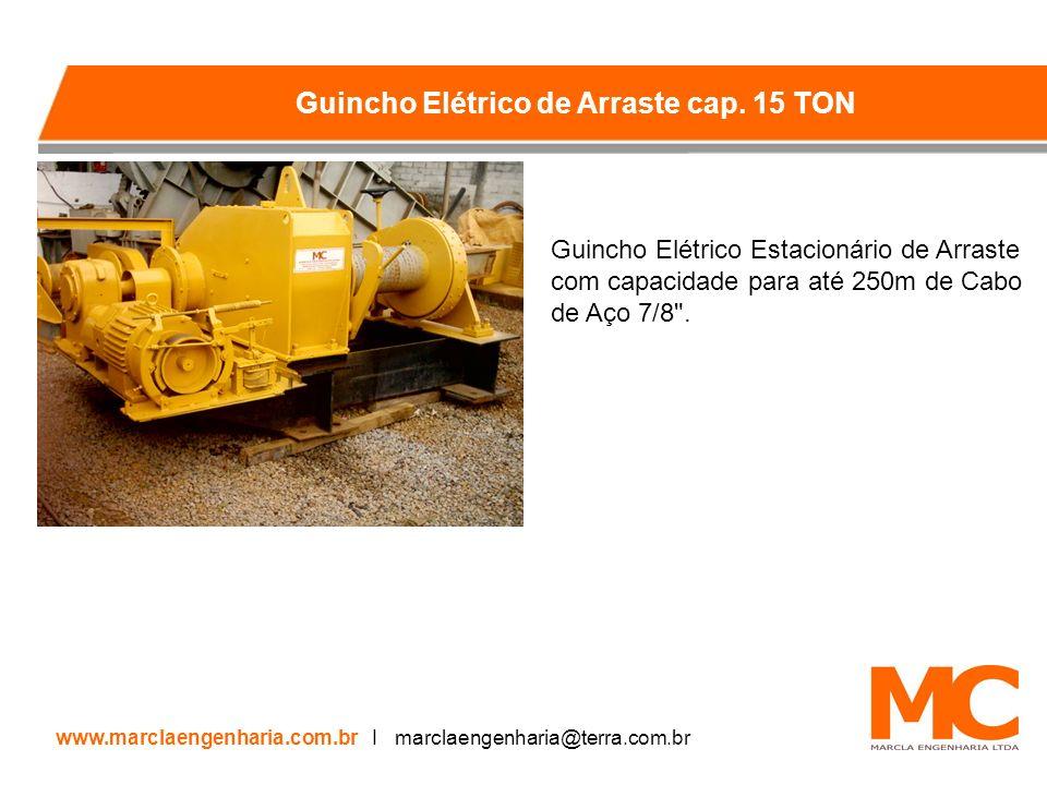 Guincho Elétrico Estacionário de Arraste com capacidade para até 250m de Cabo de Aço 7/8 .
