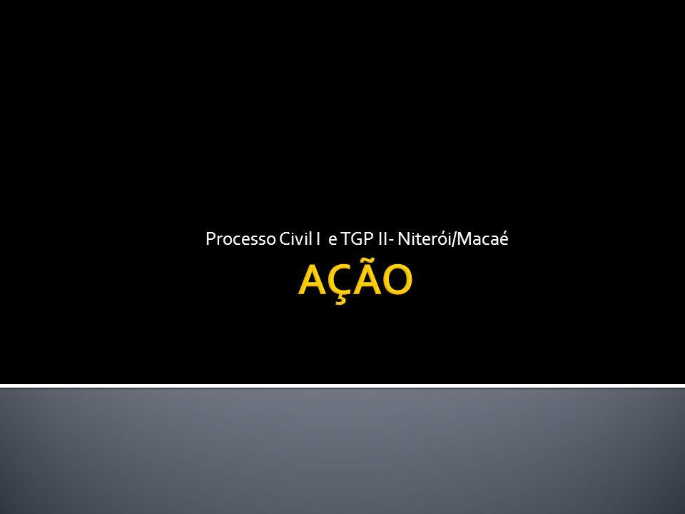Processo Civil I e TGP II- Niterói/Macaé
