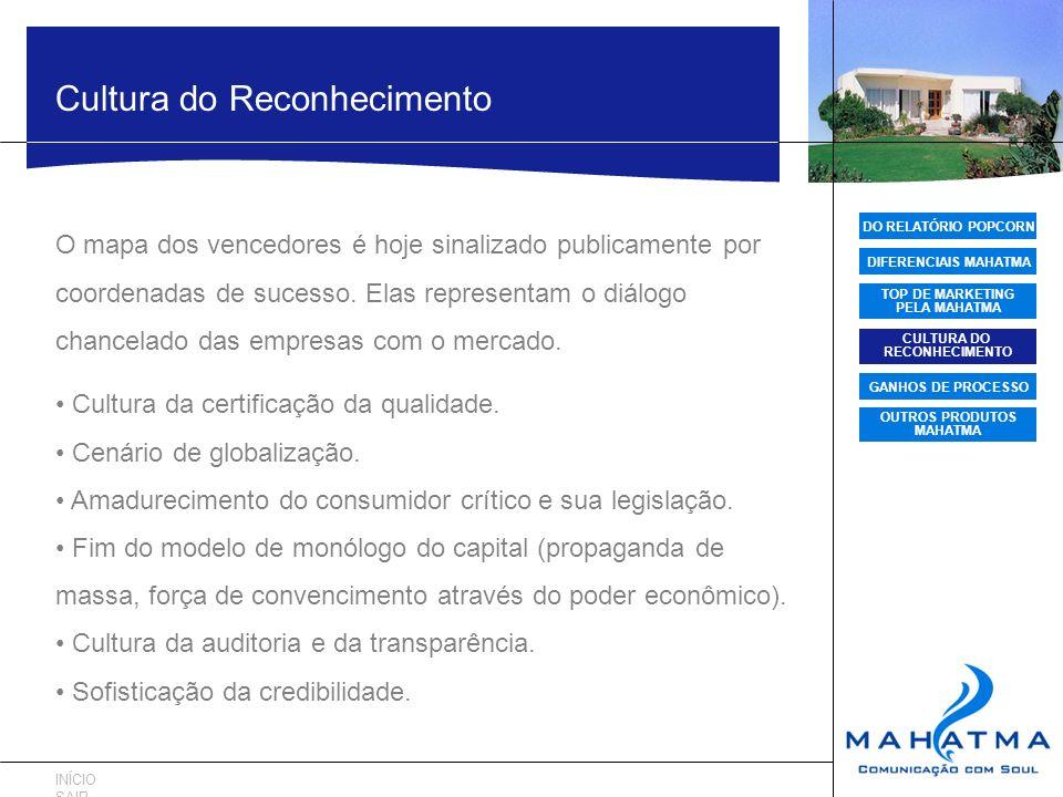 DO RELATÓRIO POPCORN DIFERENCIAIS MAHATMA TOP DE MARKETING PELA MAHATMA CULTURA DO RECONHECIMENTO GANHOS DE PROCESSO OUTROS PRODUTOS MAHATMA Cultura d