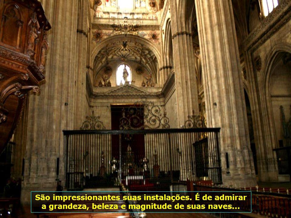 Catedral de Salamanca, é a penúltima em estilo gótico da Espanha. A sua construção iniciou-se em 1513 e foi concluída em 1733...