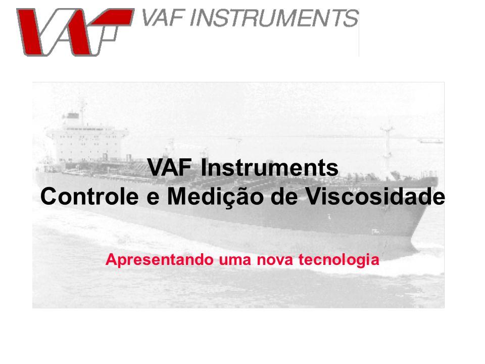 Apresentando uma nova tecnologia VAF Instruments Controle e Medição de Viscosidade