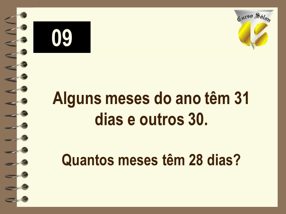 09 Alguns meses do ano têm 31 dias e outros 30. Quantos meses têm 28 dias?