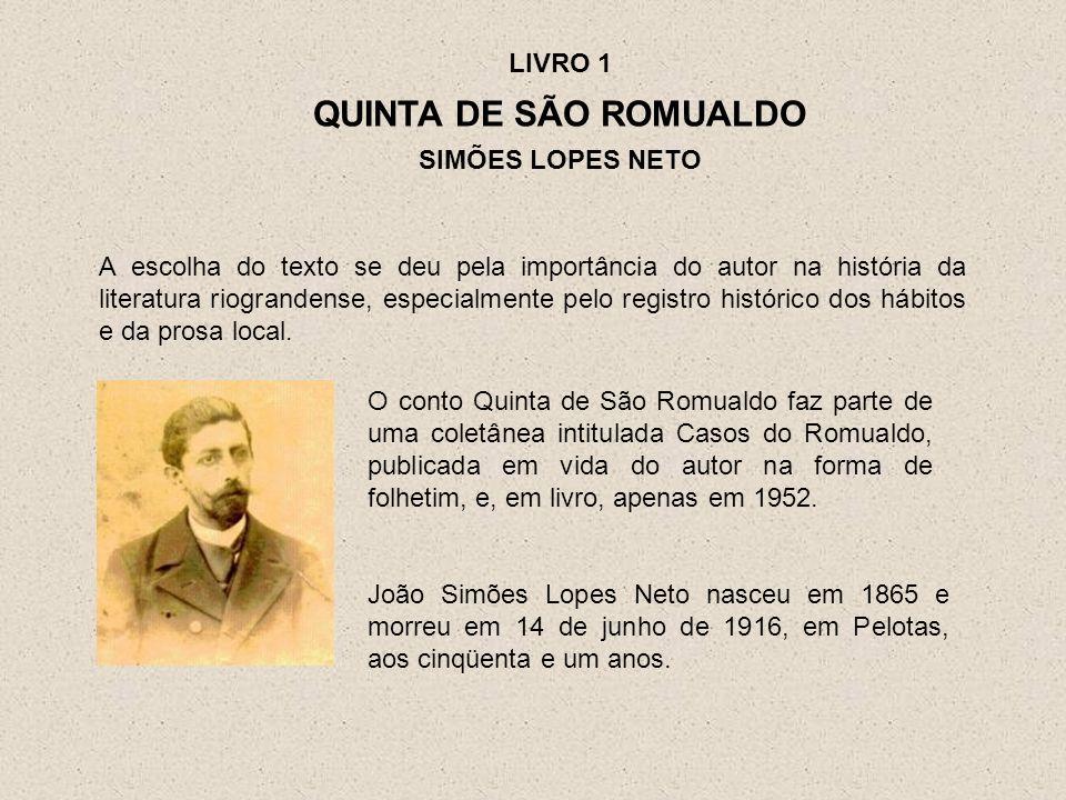 O conto Quinta de São Romualdo faz parte de uma coletânea intitulada Casos do Romualdo, publicada em vida do autor na forma de folhetim, e, em livro,