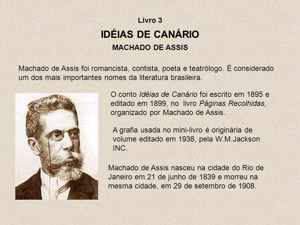 Machado de Assis nasceu na cidade do Rio de Janeiro em 21 de junho de 1839 e morreu na mesma cidade, em 29 de setembro de 1908. Machado de Assis foi r