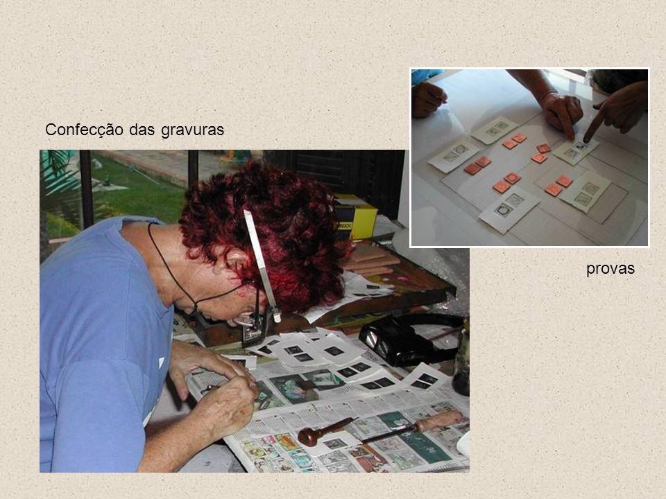 Confecção das gravuras provas