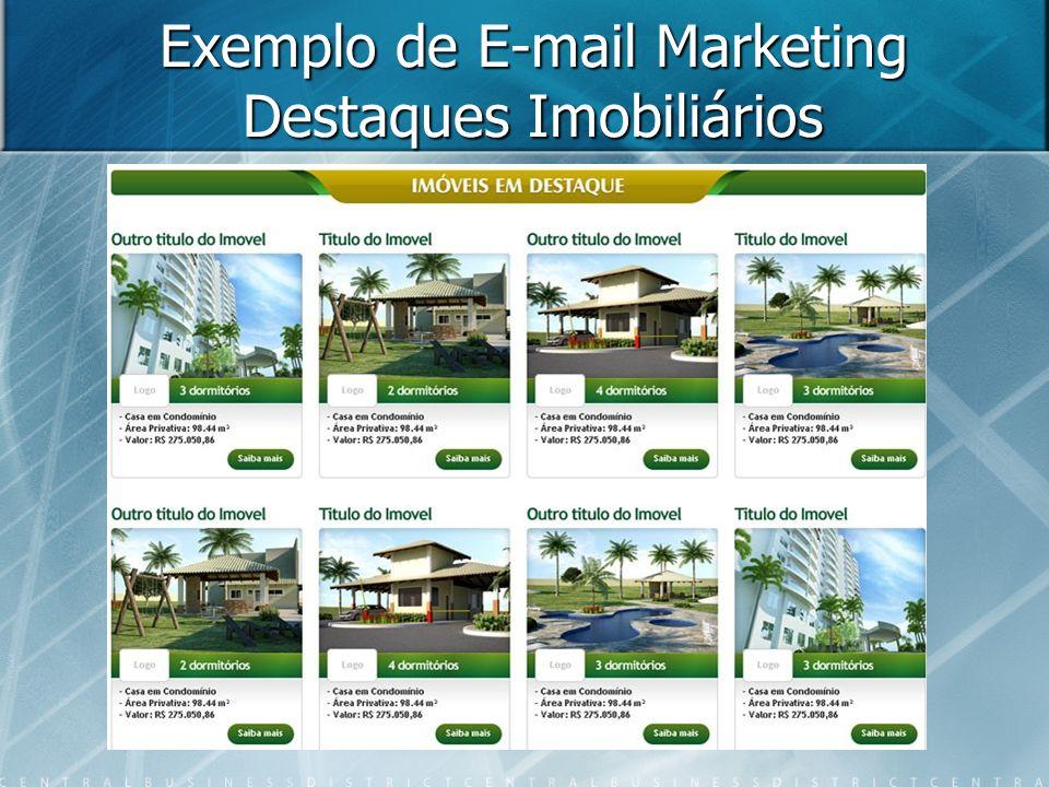 Exemplo de E-mail Marketing Destaques Imobiliários