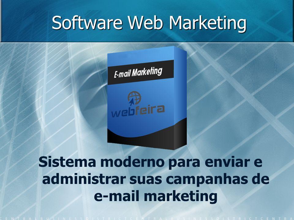 Software Web Marketing Sistema moderno para enviar e administrar suas campanhas de e-mail marketing