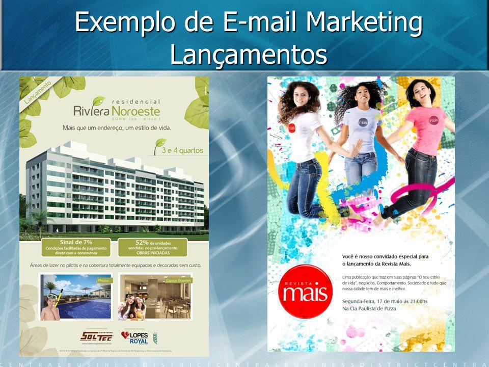 Exemplo de E-mail Marketing Lançamentos