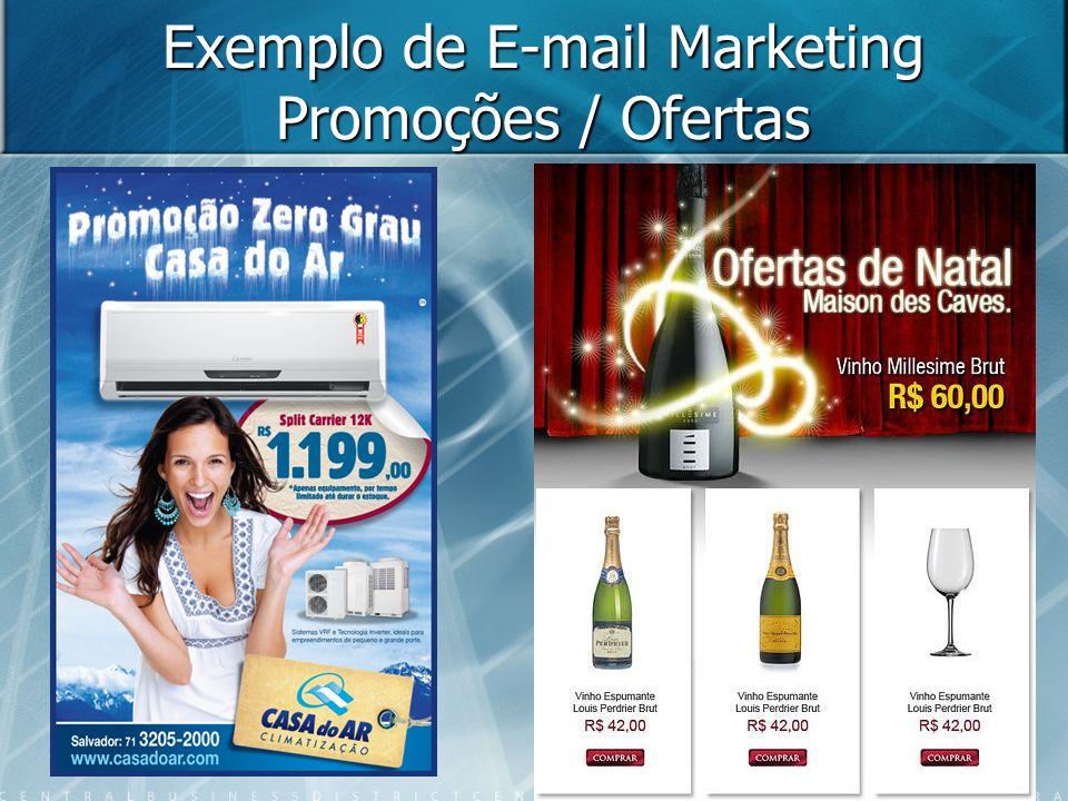 Exemplo de E-mail Marketing Promoções / Ofertas