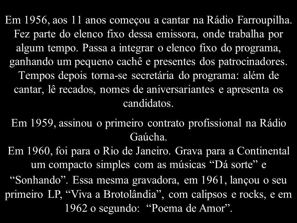 Elis Regina Carvalho Costa Nascimento em 17/03/1945, 15h10min Local: Hospital da Beneficência Portuguesa, Porto Alegre, Rio Grande do Sul, Brasil. Fil