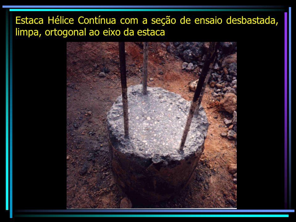 Desbaste do concreto de estaca escavada de grande diâmetro (Estacão)