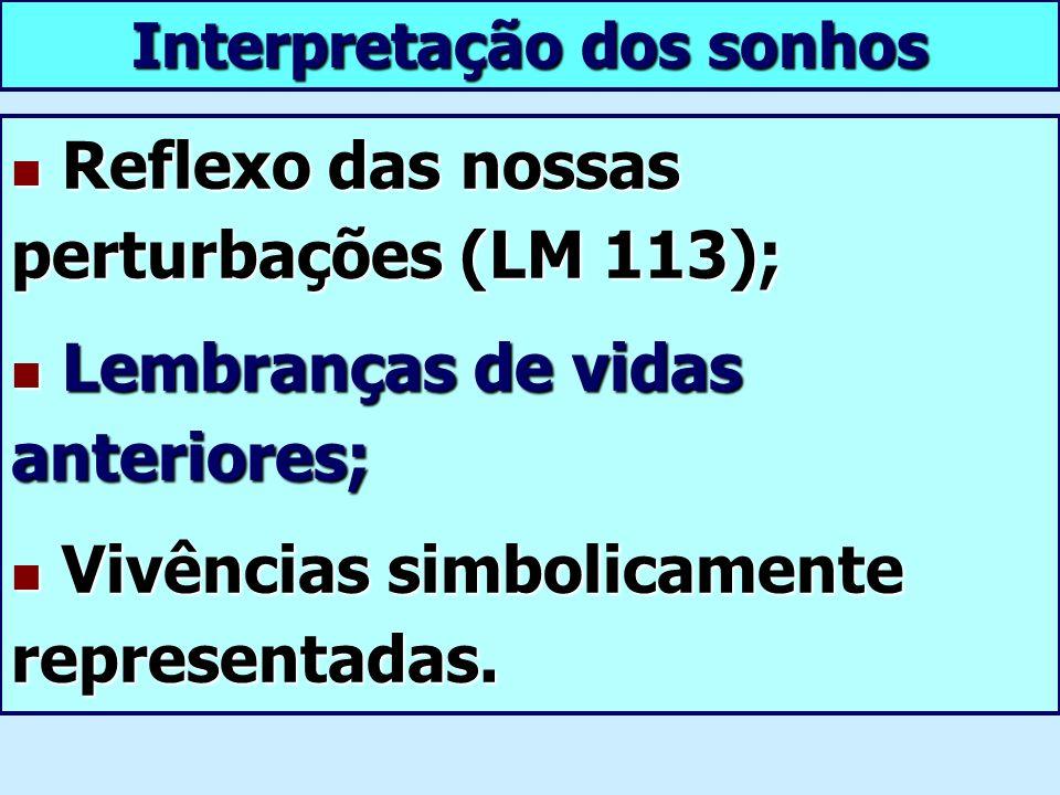 Reflexo das nossas perturbações (LM 113); Reflexo das nossas perturbações (LM 113); Lembranças de vidas anteriores; Lembranças de vidas anteriores; Vi