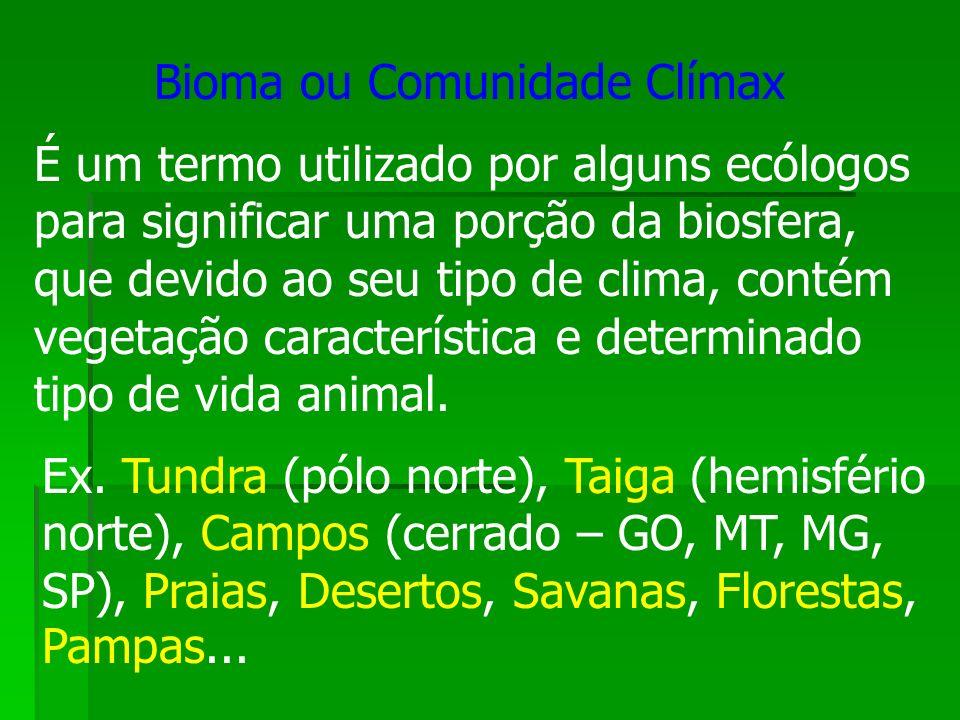 É um termo utilizado por alguns ecólogos para significar uma porção da biosfera, que devido ao seu tipo de clima, contém vegetação característica e de