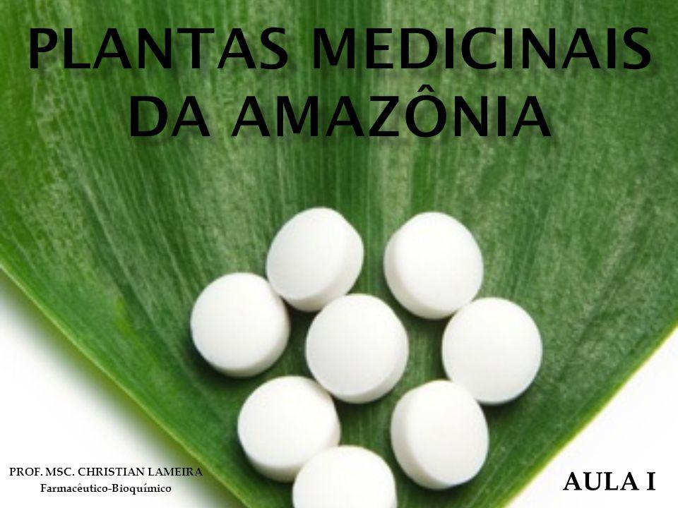 PROF. MSC. CHRISTIAN LAMEIRA Farmacêutico-Bioquímico AULA I
