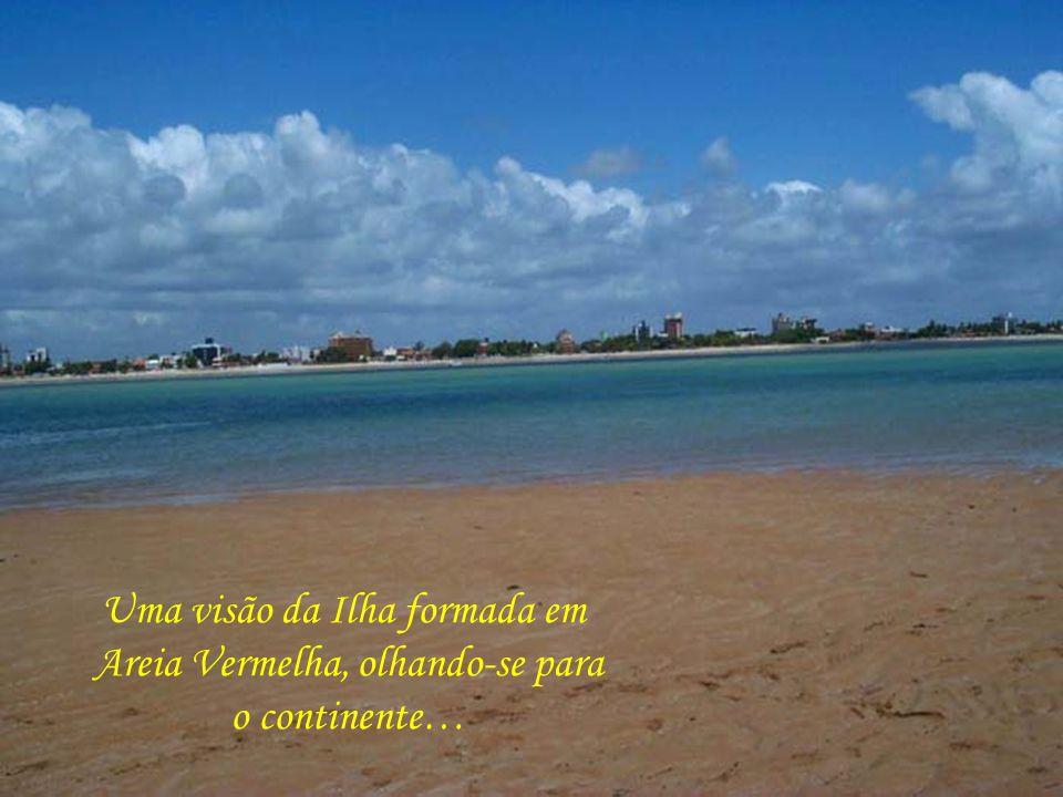Ilha de Areia Vermelha, formada em alto mar, com a baixa da maré, se transformando, durante 4 horas, num paraíso a céu aberto…