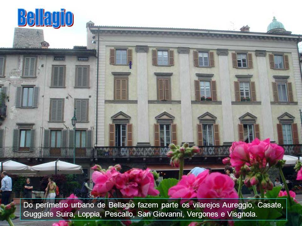 Bellagio estende-se por uma área de 26 km2, faz fronteira com Civenna, Griante, Lenno, Lezzeno, Magreglio, Oliveto Lario e outros.