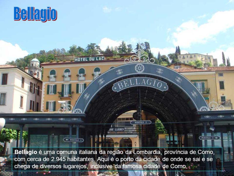 Bellagio é uma comuna italiana da região da Lombardia, província de Como, com cerca de 2.945 habitantes.