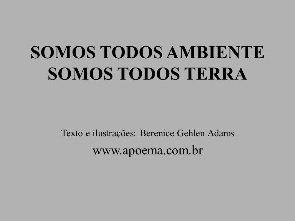 SOMOS TODOS AMBIENTE SOMOS TODOS TERRA Texto e ilustrações: Berenice Gehlen Adams www.apoema.com.br