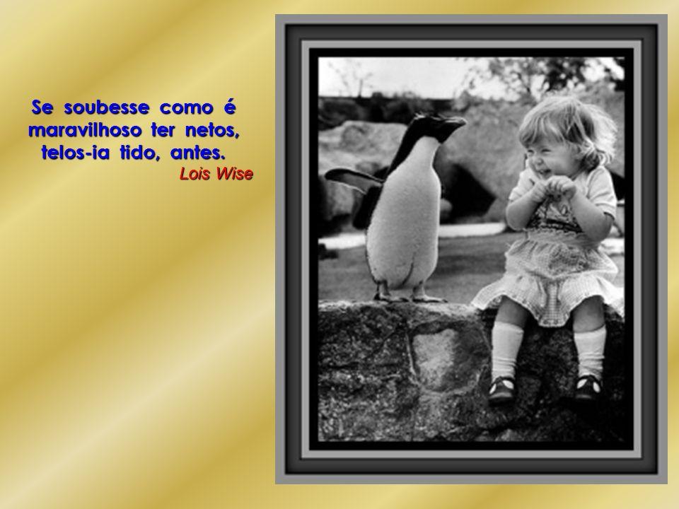 Se soubesse como é maravilhoso ter netos, telos-ia tido, antes. Lois Wise