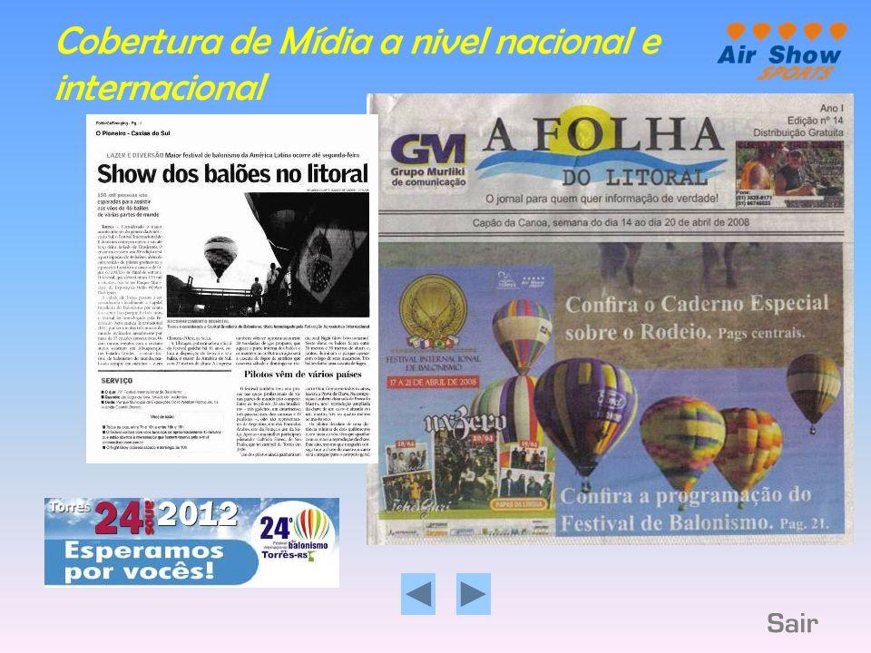Maior número de balões competindo na América do Sul