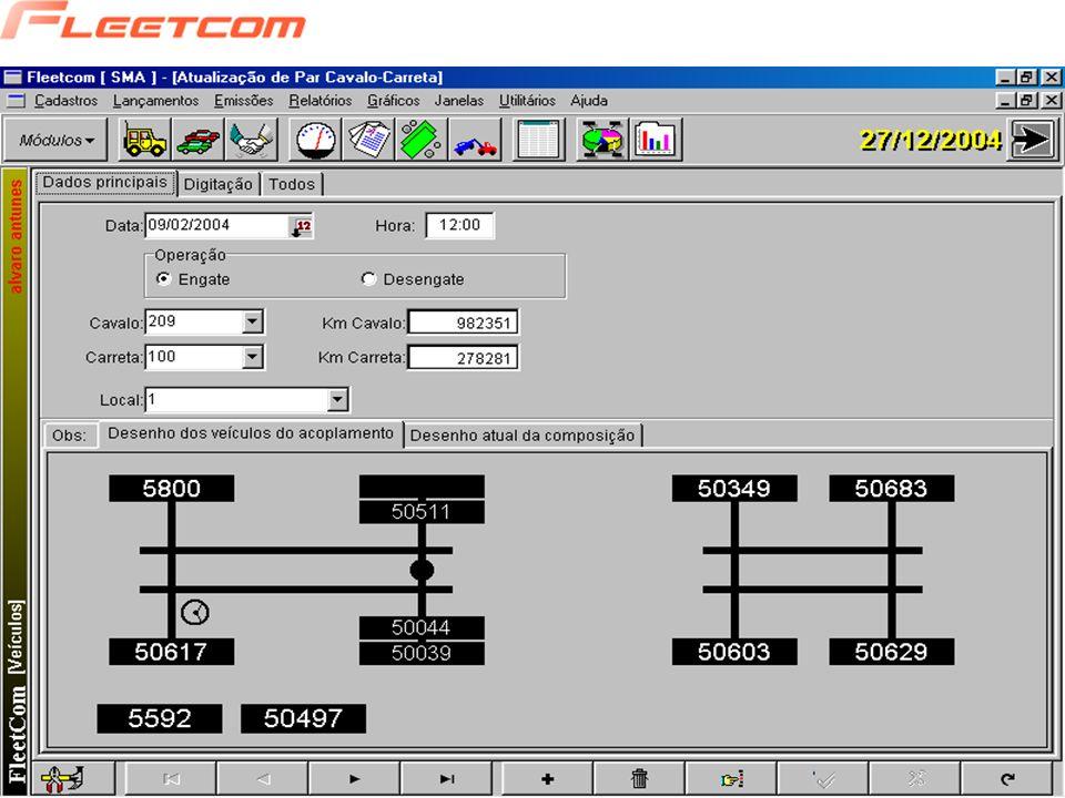 O objetivo principal deste módulo é: - Verificar o consumo de combustível por veículo, modelo; - Controlar o estoque de Combustível; - Emitir Relatórios e Gráficos