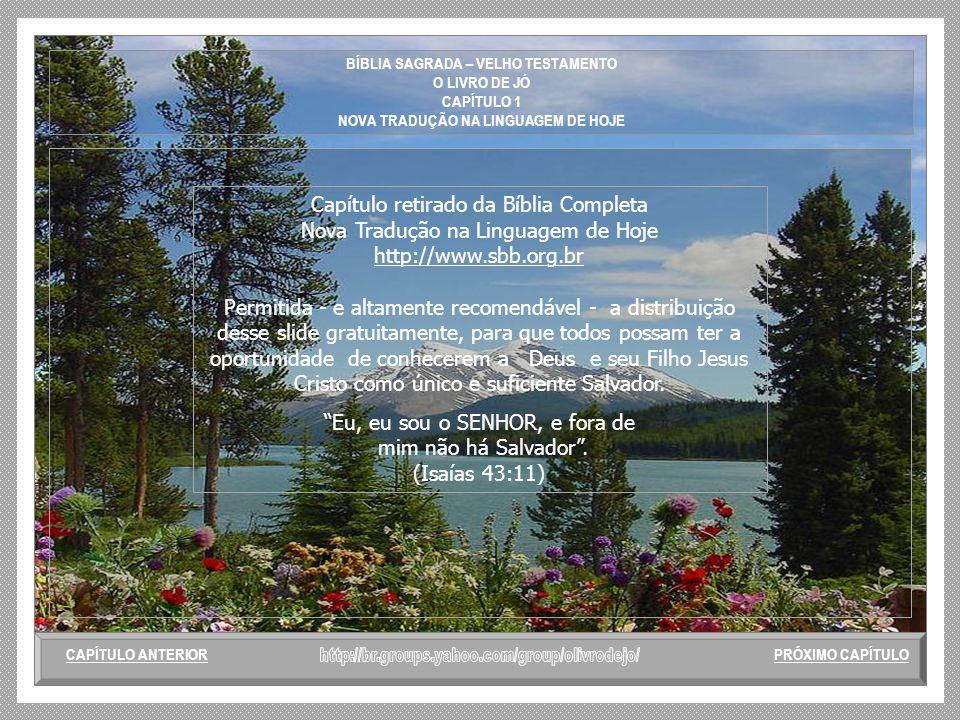 BÍBLIA SAGRADA – VELHO TESTAMENTO O LIVRO DE JÓ CAPÍTULO 1 NOVA TRADUÇÃO NA LINGUAGEM DE HOJE 17 - Enquanto este ainda estava falando, chegou um terce
