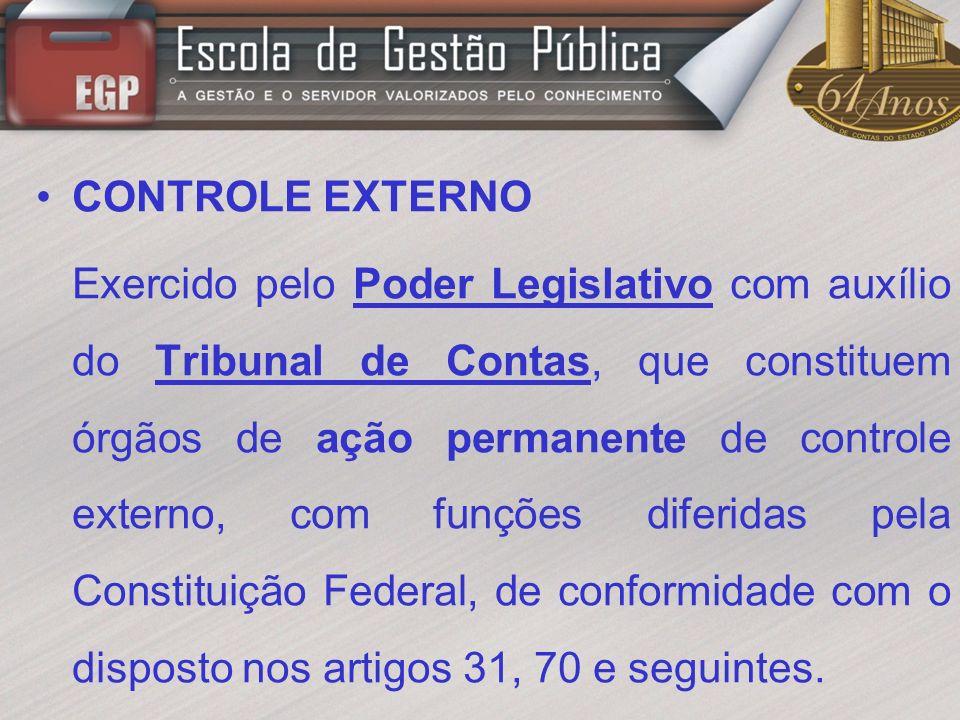 CONTROLE INTERNO – ASPECTOS LEGAIS CONSTITUIÇÃO FEDERAL – Arts.