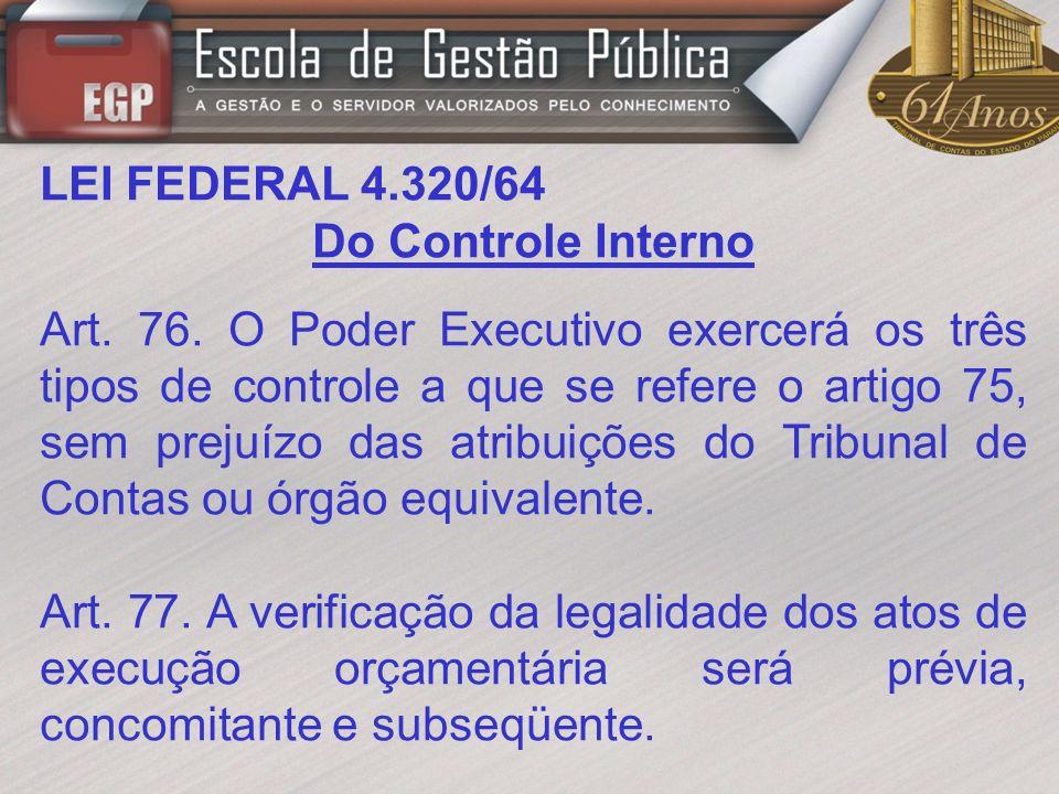 LEI FEDERAL 4.320/64 Art.78.