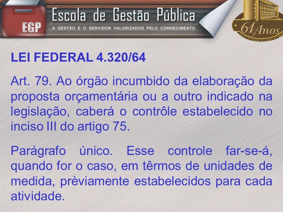 LEI FEDERAL 4.320/64 Art.80.