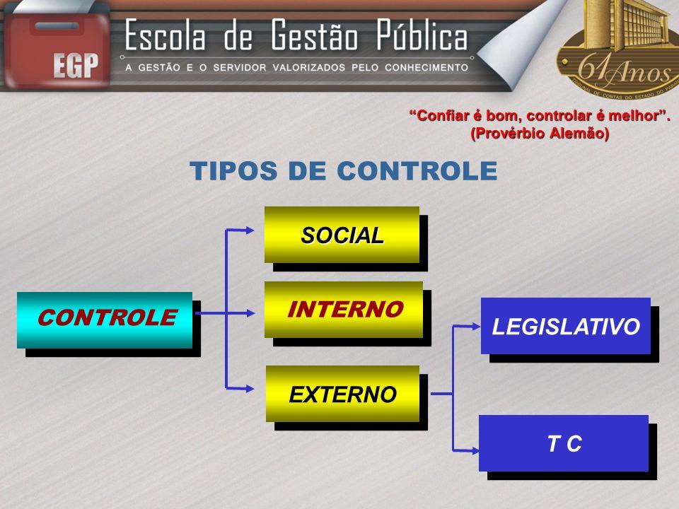 CONTROLE SOCIAL Exercido pelos cidadãos ou por seus representantes, através da denominada AÇÃO DE CONTROLE DA CIDADANIA, cujos instrumentos são a AÇÃO POPULAR (art.