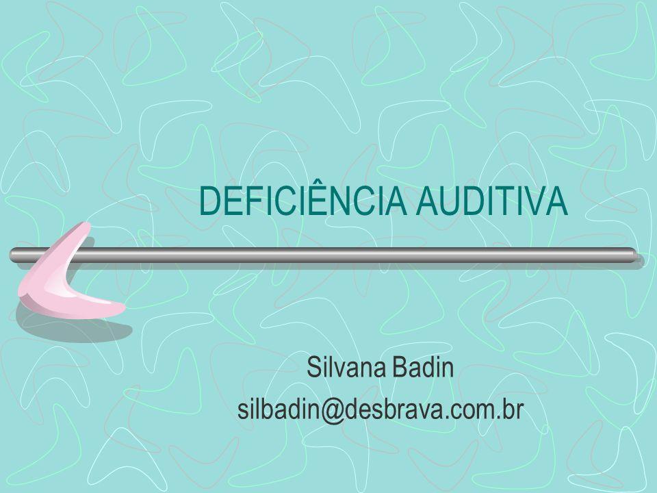 DEFICIÊNCIA AUDITIVA Silvana Badin silbadin@desbrava.com.br
