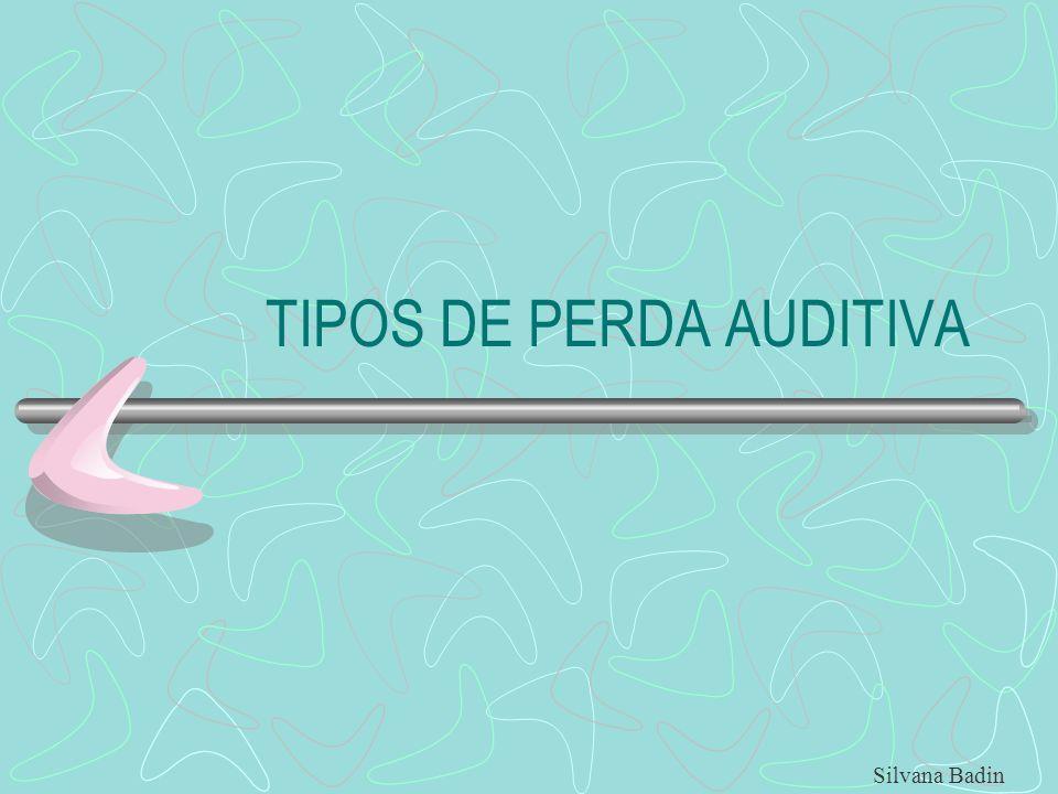 TIPOS DE PERDA AUDITIVA Silvana Badin