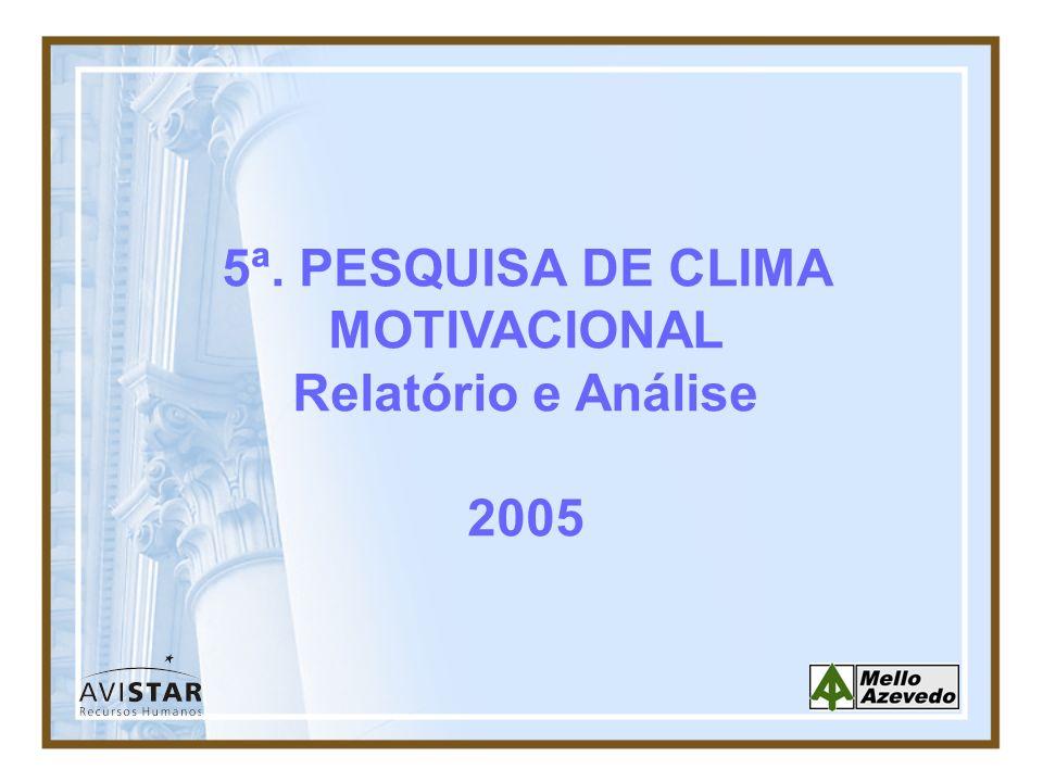 5ª. PESQUISA DE CLIMA MOTIVACIONAL Relatório e Análise 2005