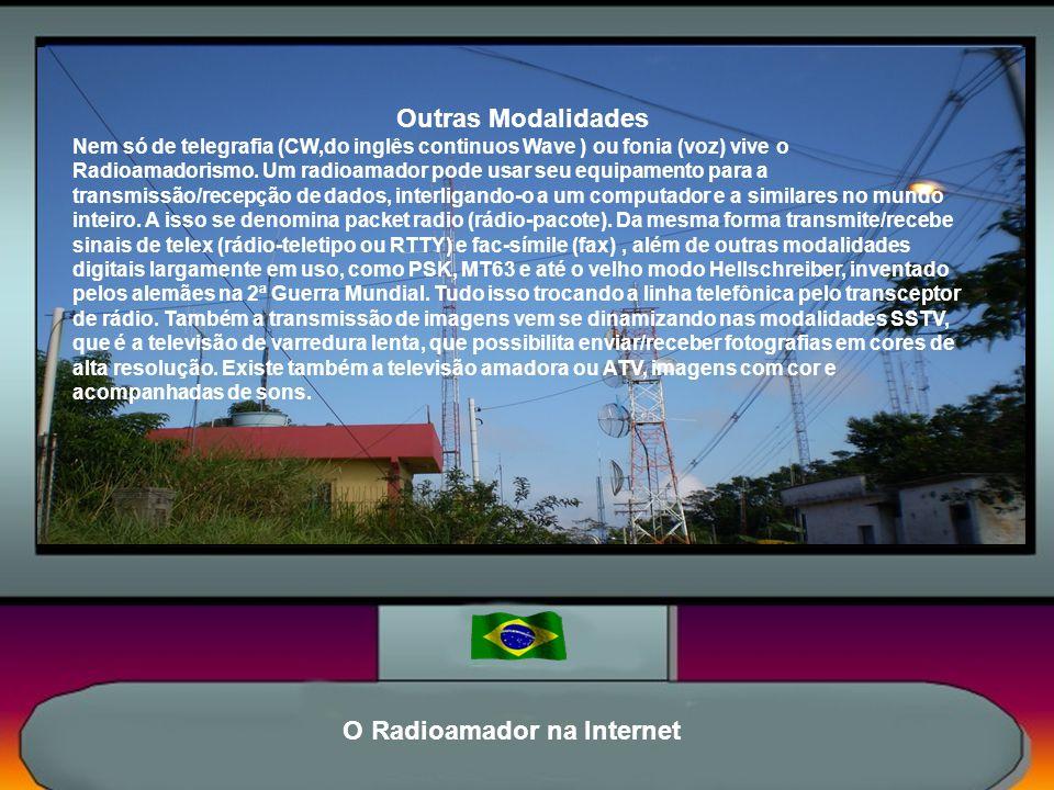 O Radioamador na Internet O Radioamadorismo É um dos mais fascinantes, versáteis e instrutivos hobbies científicos.