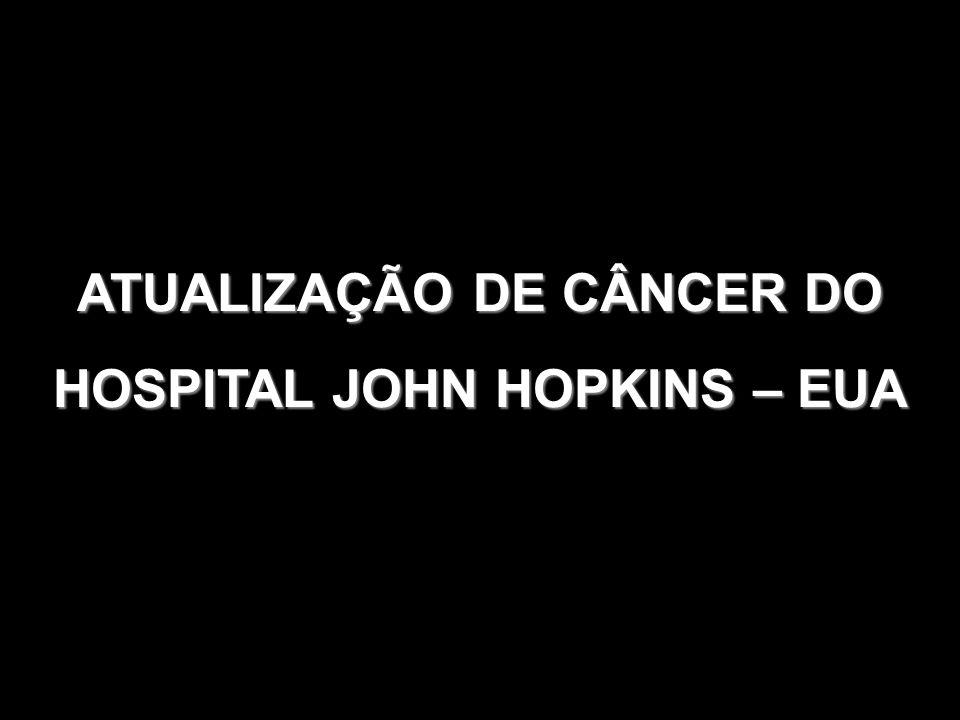 ATUALIZAÇÃO DE CÂNCER DO HOSPITAL JOHN HOPKINS – EUA